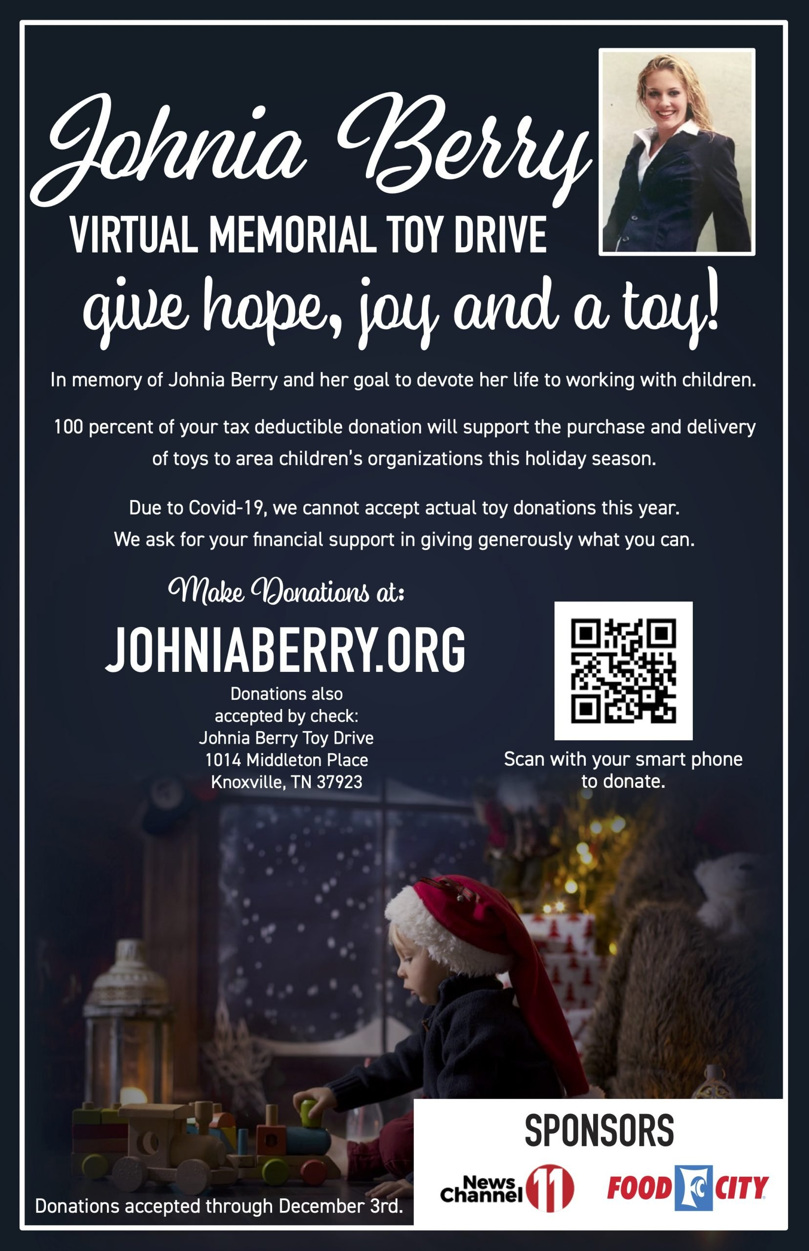 Johnia Berry 2020 Virtual Toy Drive